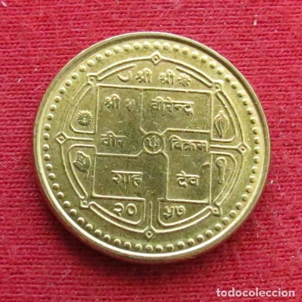 Monedas antiguas de Asia: Nepal 1 rupee 2000 - Foto 2 - 177427570