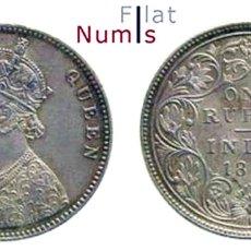 Monedas antiguas de Asia: INDIA - BRITANICA - 1 RUPIA - 1862 - PLATA - NO CIRCULADA. Lote 177575112