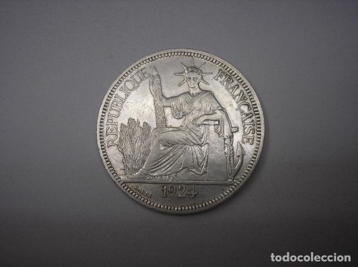 INDOCHINA FRANCESA. 1 PIASTRA DE PLATA DE 1924 (Numismática - Extranjeras - Asia)