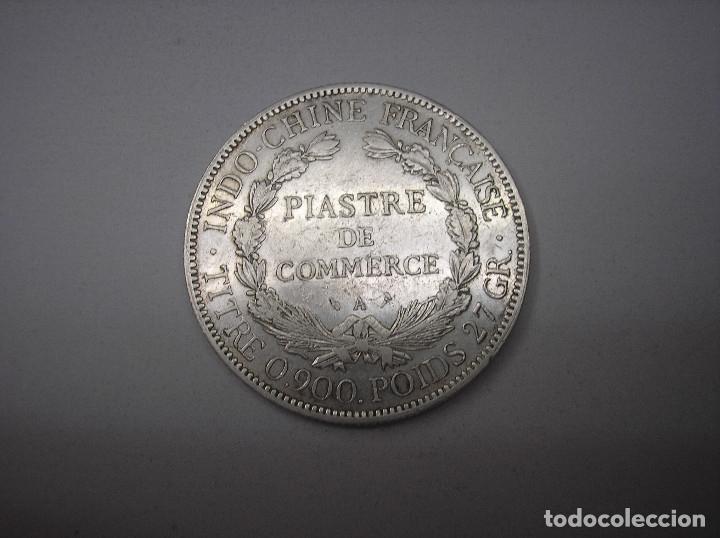 Monedas antiguas de Asia: INDOCHINA FRANCESA. 1 PIASTRA DE PLATA DE 1924 - Foto 2 - 177985272