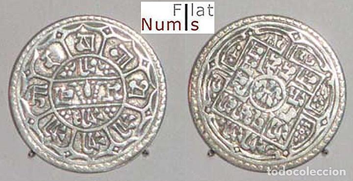 NEPAL - 1 MOHAR - 1903 - PLATA - M.B.C. (Numismática - Extranjeras - Asia)
