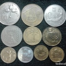 Monedas antiguas de Asia: 10 MONEDAS ISRAEL. Lote 178133742
