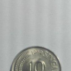 Monedas antiguas de Asia: E60- BUENA MONEDA DE 10 CENTAVOS DEL AÑO 1969 DE SINGAPUR. Lote 178967017