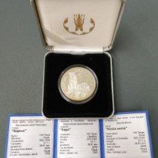 Monedas antiguas de Asia: KAZAKHSTAN - 2009 - 100 TENGE PLATA 0.925 PROOF - LEOPARDO DE LAS NIEVES - CERTIFICADO AUTENTICIDAD. Lote 178977537