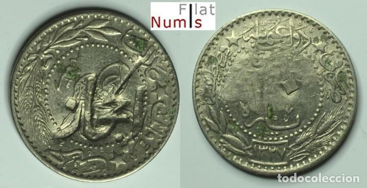 HEJAZ - 20 PARA - (1909 -1327/3) - CUPRONIQUEL - E.B.C. ESCASA (Numismática - Extranjeras - Asia)