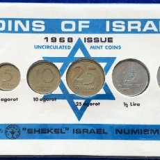 Monedas antiguas de Asia: ISRAEL 20TH ANNIVERSARY MINT LIRA 6 COINS SET 1968 UNCIRCULATED - PRIVATE ISSUE. Lote 181401800