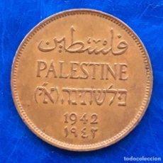 Monedas antiguas de Asia: ISRAEL PALESTINA MANDATO BRITÁNICO 2 MILÉSIMAS DE PULGADA 1942 MONEDA AU. Lote 181401890