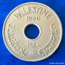 Monedas antiguas de Asia: ISRAEL PALESTINA MANDATO BRITÁNICO 10 MILÉSIMAS DE PULGADA 1940 MONEDA XF +. Lote 181402155