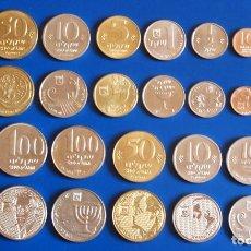 Monedas antiguas de Asia: JUEGO COMPLETO DE ISRAEL MONEDAS ANTIGUAS SHEKEL & EDICIÓN ESPECIAL-LOTE DE 14 MONEDAS. Lote 181402317