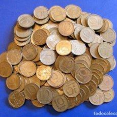 Monedas antiguas de Asia: LOTE DE 10 MONEDAS DE ISRAEL 10 AGOROT CIRCULADO. Lote 181402532