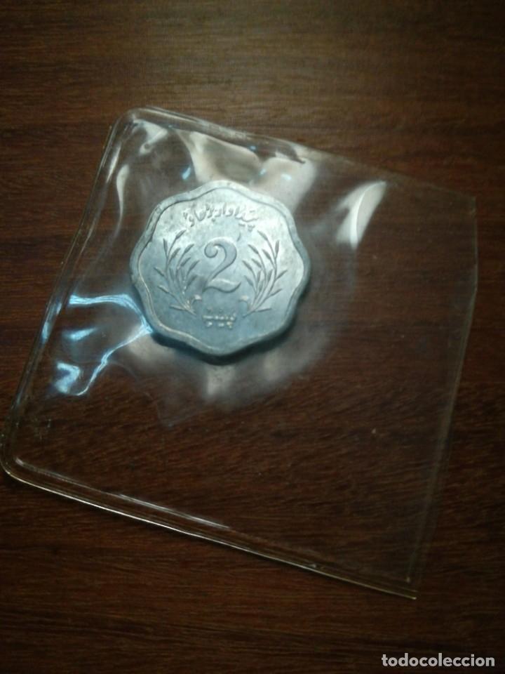 Monedas antiguas de Asia: 2 paisa Pakistán 1974 s/c funda del banco - Foto 2 - 182630076