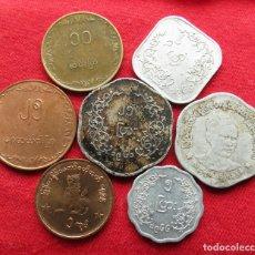Monedas antiguas de Asia: BURMA MYANMAR 7 MONEDAS TODAS DIFERENTES 5 10 25 50 PYAS 1 KYAT 1955 - 1999 BIRMANIA. Lote 182731922