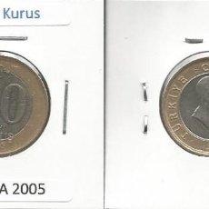 Monedas antiguas de Asia: TURQUIA 2005 - 50 NEW KURUS - KM 1158 - CIRCULADA. Lote 183475707