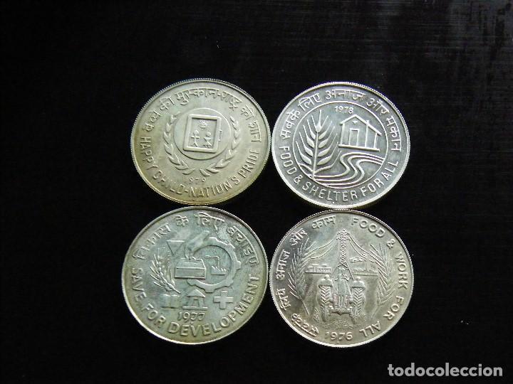 INDIA LOTE DE 4 MONEDAS DE 50 RUPIAS DE PLATA NUEVAS (Numismática - Extranjeras - Asia)