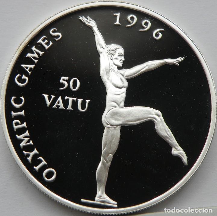 VANUATU 50 VATU 1994 JJOO-GIMNASIA. PLATA PROOF. ESCASA SOLO 40.000 PIEZAS (Numismática - Extranjeras - Asia)
