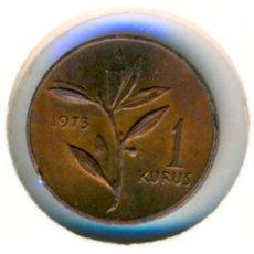 Monedas antiguas de Asia: TURQUÍA 1 KURUSH 1973 ( EBC- ) KM # 895A. Lote 184118167