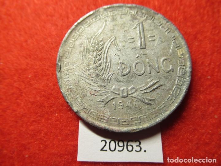 Monedas antiguas de Asia: Vietnam 1 dông 1946, dong, DIFICIL - Foto 2 - 184350831
