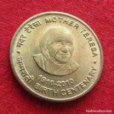 Monedas antiguas de Asia: INDIA 5 RUPEES 2010 TERESA. Lote 277474233