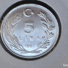 Monedas antiguas de Asia: TURQUIA 5 LIRAS 1987 (SIN CIRCULAR). Lote 186413012