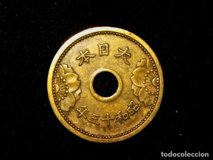 5 SEN DE 1938 JAPÓN SHOWA (TA5) (Numismática - Extranjeras - Asia)