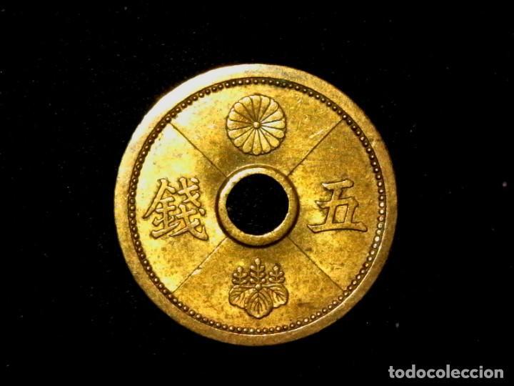 Monedas antiguas de Asia: 5 sen de 1939 Japón Showa (TA5) - Foto 2 - 187196501