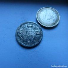 Monedas antiguas de Asia: MONEDA DE PLATA DE 1/2 RUPIA DE LA INDIA BRITÁNICA AÑO 1942 . Lote 188412111