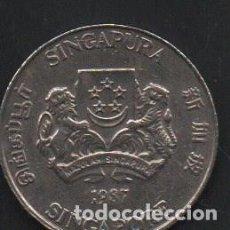 Monedas antiguas de Asia: SINGAPUR, 20 CENTAVOS 1987, MBC . Lote 188456868