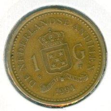 Monedas antiguas de Asia: HOLANDA - ANTILLAS HOLANDESAS 1 GULDEN 1994 ( MBC- ) KM # 37. Lote 189108887