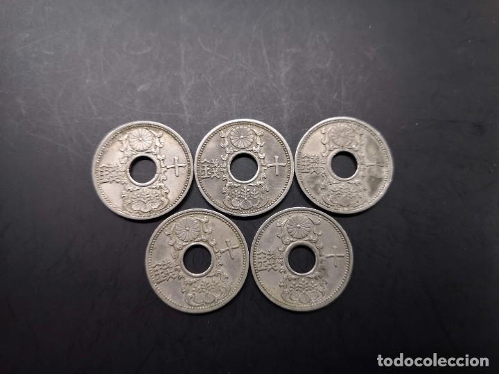 Monedas antiguas de Asia: Serie completa 10 sen de niquel Showa 1933 - 1937 Japón (A1) - Foto 2 - 189581621