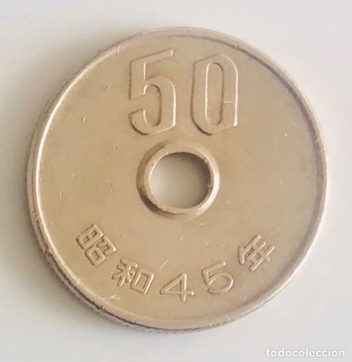 Monedas antiguas de Asia: 50 yenes Japón año 42 Era Sh?wa 1970 de nuestra era - Foto 2 - 189759216