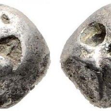Monedas antiguas de Asia: THAILANDIA. RAMA IV. 1/8 BATH O FUANG. 1851-1868. K124 (8$). MARCA DEL REY (PUA TAO). EBC-. Lote 190521822