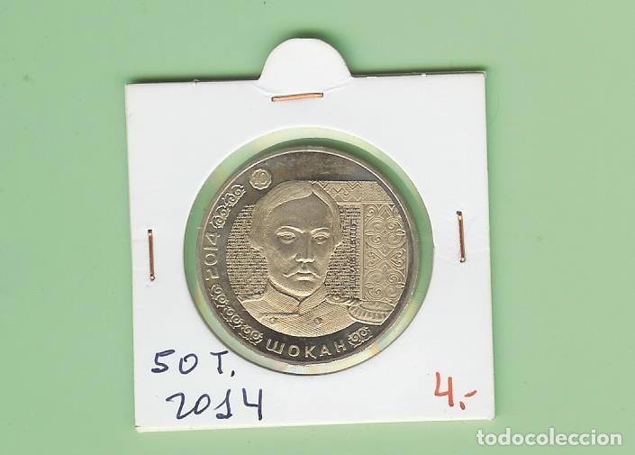 KAZAKSTAN. 50 TENGE 2014 SHOQAN WALIKHANOV (Numismática - Extranjeras - Asia)