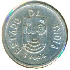 Monedas antiguas de Asia: INDIA - COLONIA PORTUGAL 1 RUPIA 1935 ( EBC- ) KM # 22 - PLATA. Lote 190758825