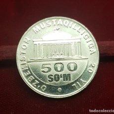 Monedas antiguas de Asia: UZBEKISTAN 500 SOM INDEPENDENCE 2011 KM 34 SC UNC. Lote 191197647
