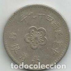 Monedas antiguas de Asia: MONEDA DE TAIWAN 1 DOLAR. Lote 191340683