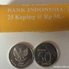 Monedas antiguas de Asia: MONEDA DE INDONESIA 50 RUPIAS 1999 SIN CRICULAR DE CARTUCHO. Lote 191353552
