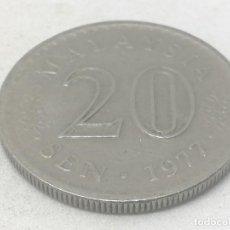 Monedas antiguas de Asia: MONEDA 1977. 20 SEN. MALASIA. KM 4. MBC. Lote 191965731