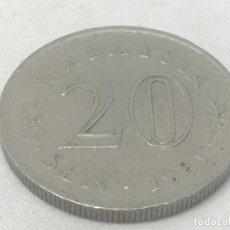 Monedas antiguas de Asia: MONEDA 1981. 20 SEN. MALASIA. KM 4. MBC. Lote 191965853