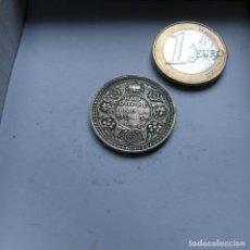 Monedas antiguas de Asia: MONEDA DE PLATA DE MEDIA RUPIA DE LA INDIA BRITÁNICA AÑO 1945. Lote 204749927