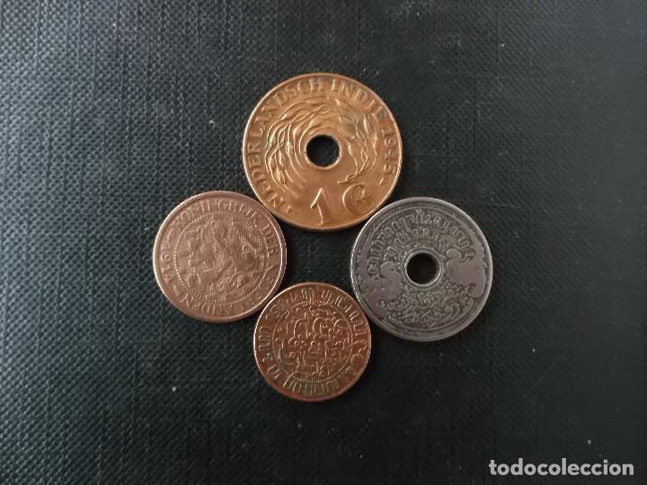 CONJUNTO DE MONEDAS DE INDIAS ORIENTALES NEERLANDESAS SIGLO XIX (Numismática - Extranjeras - Asia)