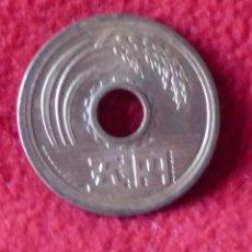 Monedas antiguas de Asia: 5 YENES JAPÓN . Lote 194136078