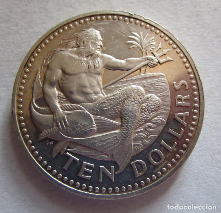 BARBADOS . GRAN MONEDA DE PLATA . 10 DOLARES DE 1973 . NUEVA (Numismática - Extranjeras - Asia)