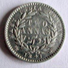 Monedas antiguas de Asia: EATAST IND. COMP.- 2 ANAS - 1841 - PLATA. Lote 194262093