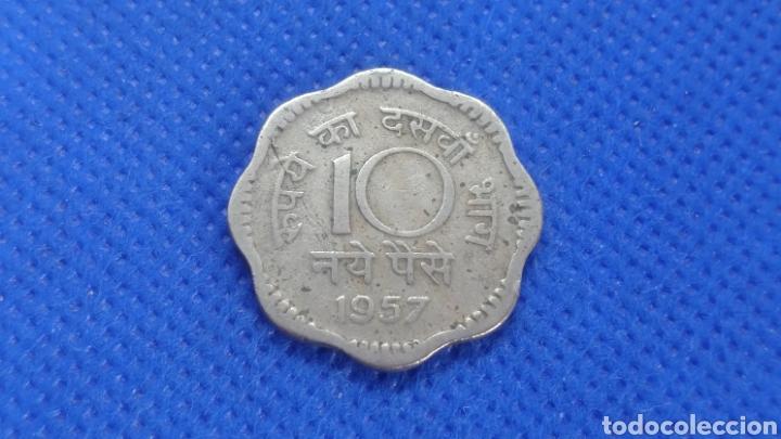 Monedas antiguas de Asia: INDIA 10 PAISA 1957 - Foto 2 - 194512891