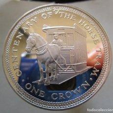 Monedas antiguas de Asia: ISLA DE MAN . 1 CORONA DE PLATA . NUEVA Y BRILLANTE . MODULO DE UNA ONZA . FDC. Lote 194530918