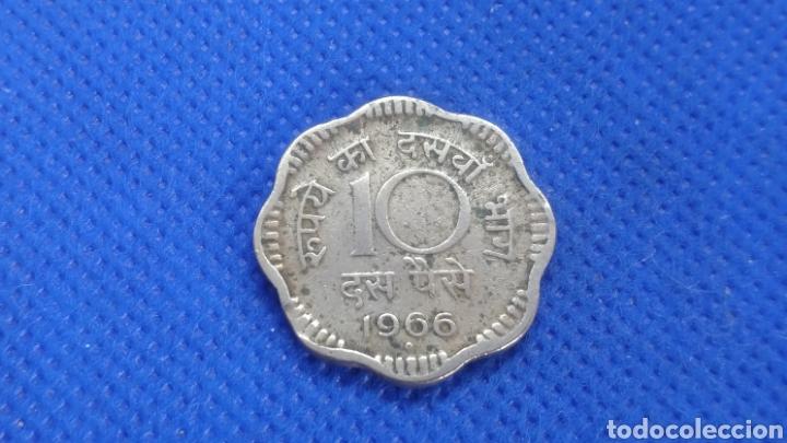 Monedas antiguas de Asia: INDIA 10 PAISA 1966 - Foto 2 - 194533597