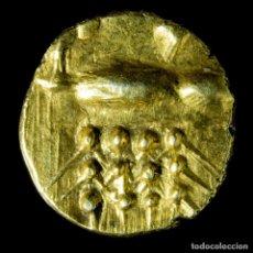 Monedas antiguas de Asia: FANAM DE ORO DE LA INDIA HOLANDESA, KALICUT Y COCHIN - 6 MM / 0.3 GR.. Lote 194569575