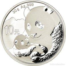 Monedas antiguas de Asia: MONEDA, CHINA, REPÚBLICA POPULAR, PANDA, 10 YÜAN, 2019, PROOF, FDC, PLATA. Lote 194721157