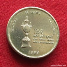 Monedas antiguas de Asia: SRI LANKA 5 RUPEES 1999 CRICKET 1996. Lote 194722807