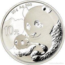 Monedas antiguas de Asia: MONEDA, CHINA, REPÚBLICA POPULAR, PANDA, 10 YÜAN, 2019, PROOF, FDC, PLATA. Lote 194726905